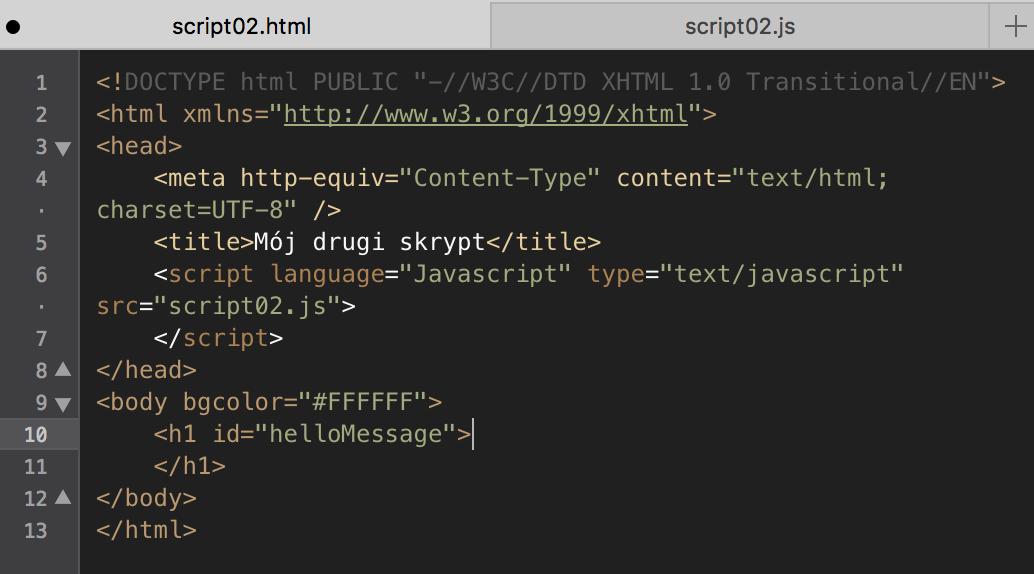 Javascript pierwsze skrypty for Window onload javascript