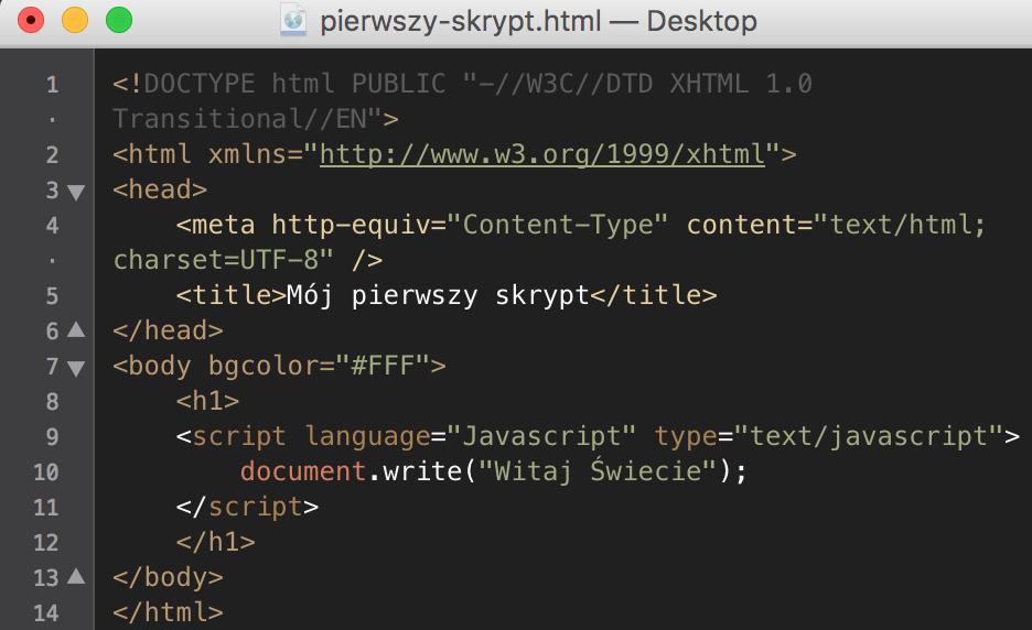 Witaj Świecie JavaScript
